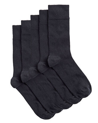 Unisex 5pk Cotton Rich Comfort Top Socks