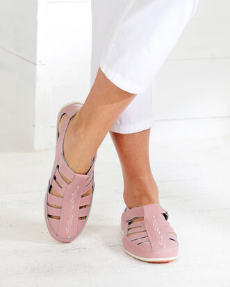 Leather Cut-Out Shoes