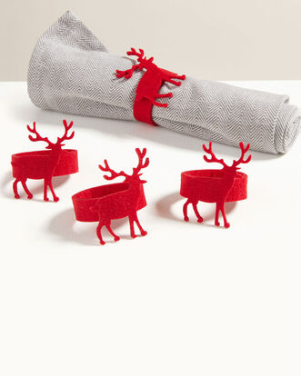 Pack of 4 Felt Christmas Napkin Holders