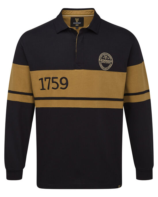 Guinness Long Sleeve Embroidered Rugby Shirt