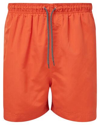 Burnt Orange Plain Swimshorts