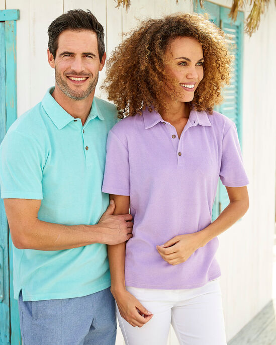 69c9be197f1b23 Terry Towelling Polo Shirt at Cotton Traders