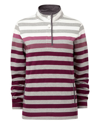 Stripe Cut and Sew Sweatshirt