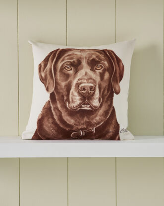 Waggy Dogz Chocolate Labrador Cushion