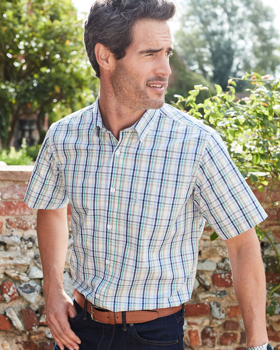 Short Sleeve Easy Iron Taylor Shirt