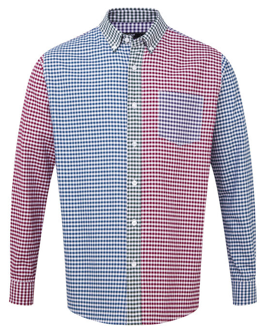 Panelled Long Sleeve Oxford Shirt