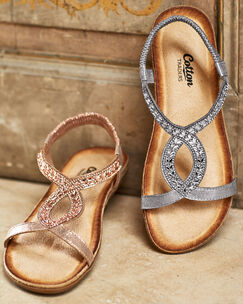 Cushioned Jewel Sandals