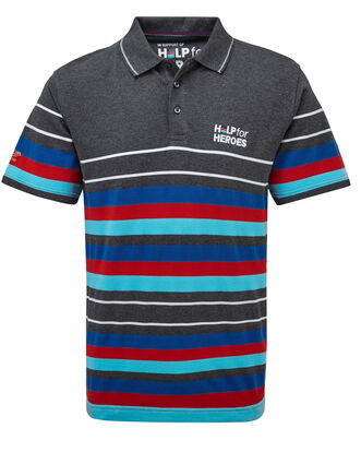 Help For Heroes Multi Stripe Polo Shirt