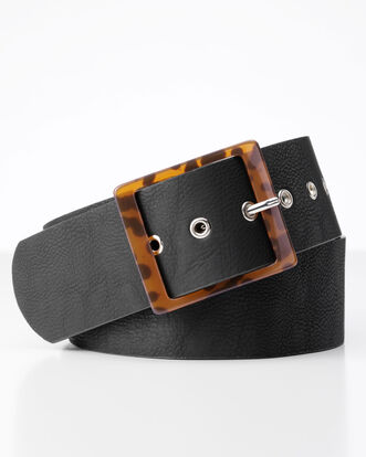 Square Buckle Wide Belt