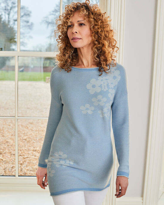 Forever Floral Fine Knit Rib Tunic