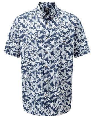 Short Sleeve Printed Denim Shirt
