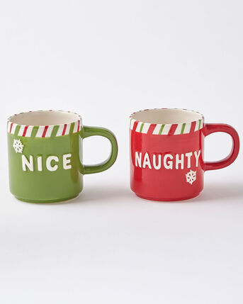 Set of 2 Naughty and Nice Mugs