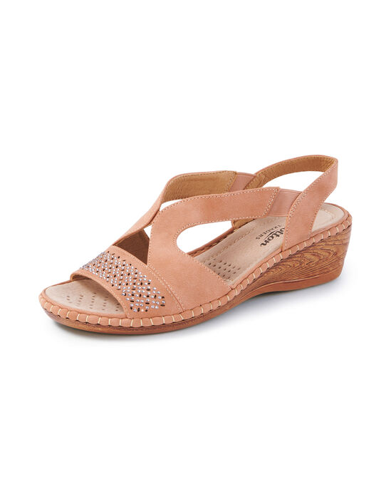 Cutwork Slingback Sandals