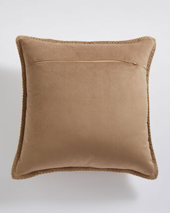 Highland Cow Blanket Stitch Cushion