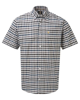 Guinness Short Sleeve Oxford Check Shirt