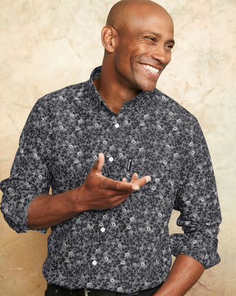 Guinness™ Long Sleeve Soft Touch Floral Shirt