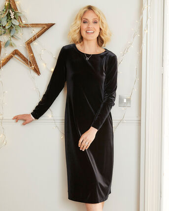 Now and Forever Velour Midi Dress