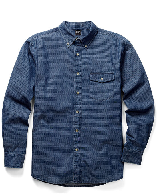 Printed Denim Long Sleeve Shirt
