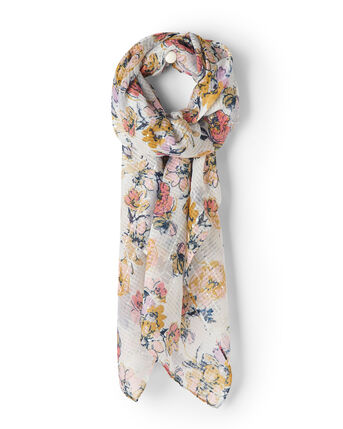 Sequin Floral Scarf