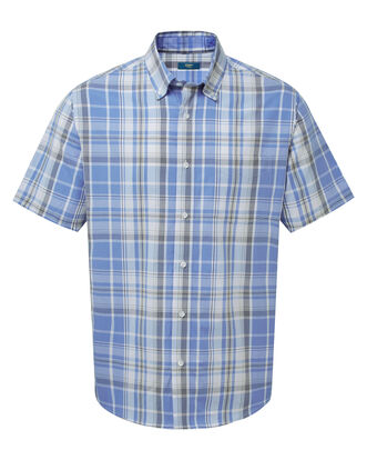 Cool Blue Short Sleeve Check Shirt