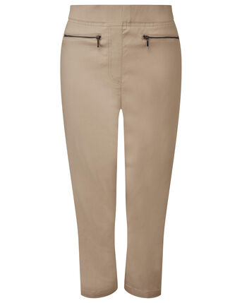 Super Stretchy Pull-on Crop Trousers