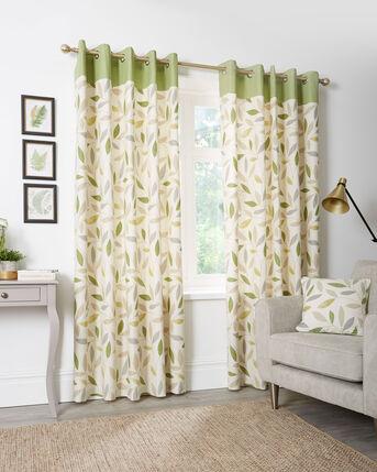 Trailing Leaf Eyelet Curtains