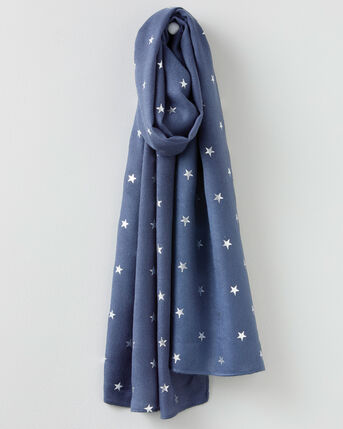 Foil Star Print Scarf