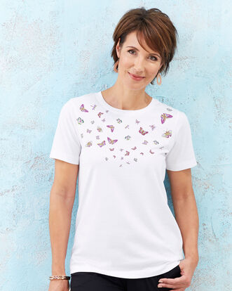 Placement Print T-shirt