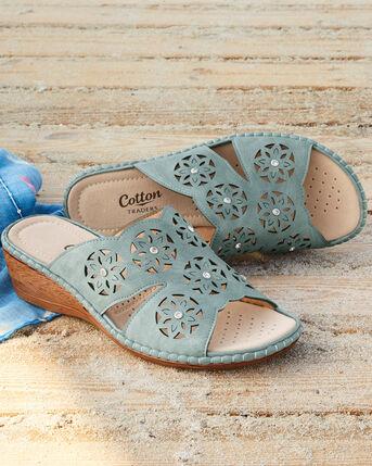 Cutwork Mule Sandals