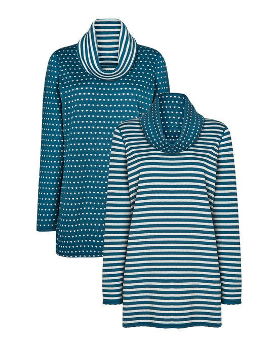 Twice-As-Nice Reversible Jersey Tunic Top