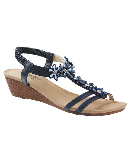 Jewel Wedge Sandals