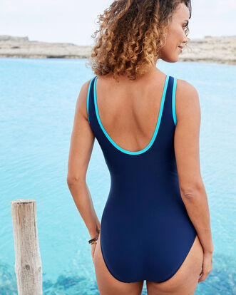 Tummy Control Panelled Swimsuit