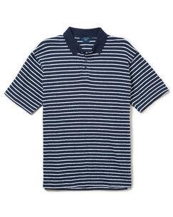 Seersucker Stripe Polo Shirt