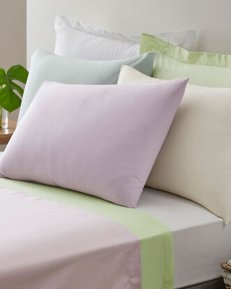 200TC Cotton Percale Oxford Pillowcase Pair