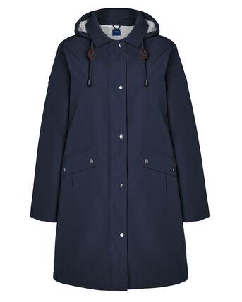 All-Weather Fleece Lined Waterproof Hooded Coat