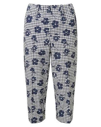 Elasticated Waist Stretch Crop Trousers