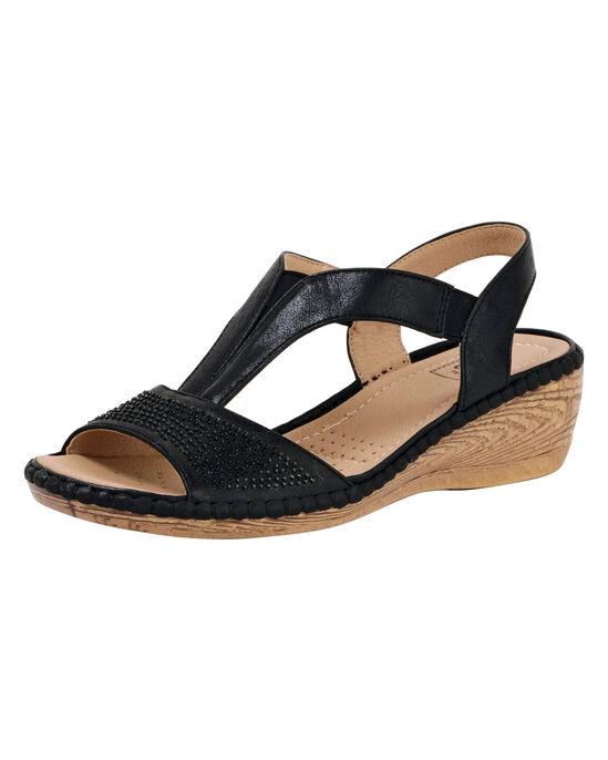 Embellished T-Bar Sandals