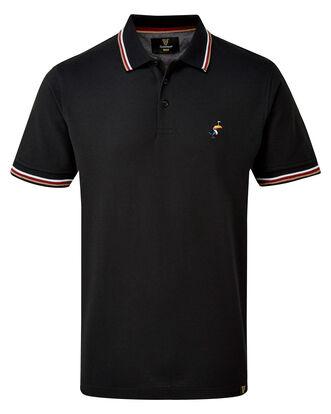 Guinness Short Sleeve Ripple Collar Polo Shirt