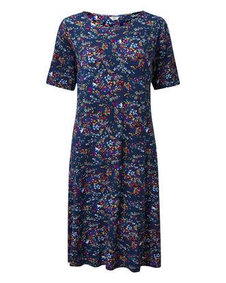 Navy Printed Dress