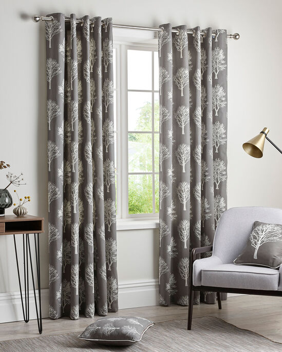 Woodland Eyelet Curtains 66X90""