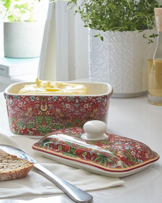 William Morris Strawberry Thief Butter Dish