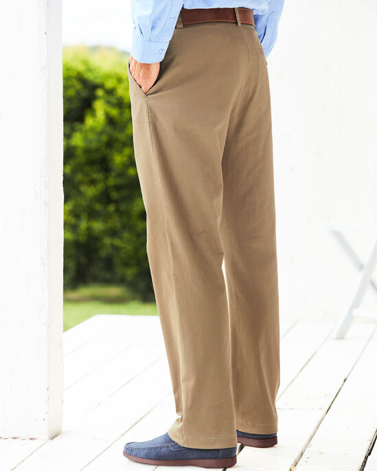 Flat Front Chino Trousers