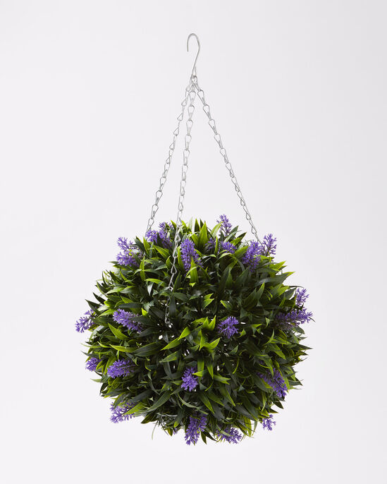 Faux Lavender Topiary Ball
