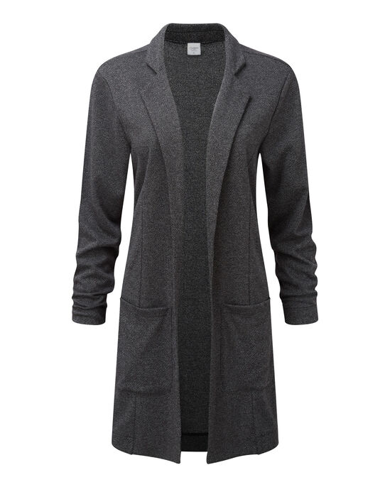 Jersey Tweed Longline Jacket