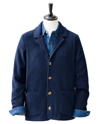 Mens Fleece Blazer