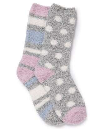 Pack of 2 Cosy Bed Socks