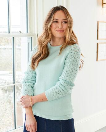 Sweetest Lacy Knit Sleeve Jumper