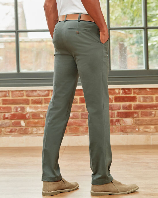 Flat Front 4-way Stretch Chino Trousers