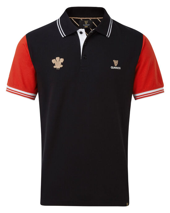 Guinness Short Sleeve Wales Polo Shirt