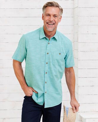 8201f0d6e60 Short Sleeve Linen Look Shirt